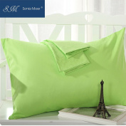 Set of 2 Premium 50% Cotton 50% Polyester 200 Thread Count Pillow Cases by Sonia Moer,