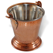 RoyaltyRoute Copperware Traditional Tableware Balti Bucket for Serving Curry Dishes Indian Cuisine 300 ML