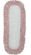 CleanAide Coral Weave Microfiber Mop Pad with Rope Border 46cm Red