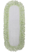 CleanAide Coral Weave Microfiber Mop Pad with Rope Border 60cm Green