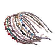 Cfrmall Girls / Women Ribbon or Jewellery Crystal Pearl Headbands