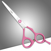 Joewell PINK Professional Barber / Salon Razor Edge Hair Cutting Scissors / Shears