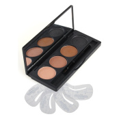 Vodisa Makeup Powder 4 Colour Eyebrow Kit-Eye Brow Tint Palette - Beauty Cosmetics Light Brown Brow Dye for Nose Shaded-Professional Make Up Eye Brows Filler+4 Eyebrow Shaping Stencils+ Eyebrow Brush
