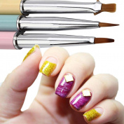 Alonea 3pcs UV Gel Acrylic Nail Art Brush Set Art Builder Painting Pen Design Nail Art