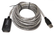 7.6m 7.6m USB 2.0 Active Repeater Male to Female Extension Cable Adapter Cord