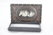 Silver Horse Heads Hand Tooled Leather Look Metal Toilet Paper Holder Wall Mounted Hunter Cabin Lodge Bathroom Western Decoration