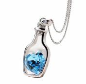 AMA(TM) Women Love Drift Bottles Crystal Necklace Pendant, Ideal Gift for Girls