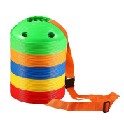 50-Pack Kevenz 5.1cm High Multicolor Soccer disc Cones Markers, with a carry strap or bag discs cone