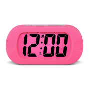 HENSE Large Digital Display Alarm Clock and Snooze/ Night Light Travel Alarm Clock and Home Bedside Alarm Clock HA30