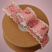 Kraft Klassics 1 Roll of Vintage Floral Ribbon - 2.5cm x 10 Yds