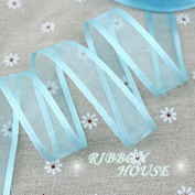 """FunnyPicker (10 Yards/Lot) 3/4""""(20Mm) Sky Blue Broadside Organza Ribbons Wholesale Gift Wrapping Decoration Ribbons"""