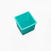 X-Haibei Small CUBE SQUARE Soap Candle Flower Pot Silicone Mould 5.1cm