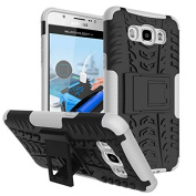 Galaxy J710 Case, Galaxy J7 2016 Case,ARSUE [Premium Rugged] Heavy Duty Armour [Shock Resistant] Dual Layer with Kickstand Case for Samsung Galaxy J7 2016/J710 - White
