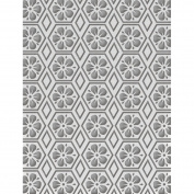 Ultimate Crafts Embossing Folder A2-Floral Honeycomb