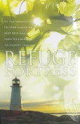 """Refuge Fortress"" Psalm 91:1 Church Bulletin with Perforated Tear-Off Panel - Legal Size 20cm - 1.3cm x 36cm"