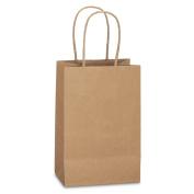 """BagDream Kraft Paper Bags 25Pcs 13cm x 8.3cm x 8"""", Rose, Shopping Bag, Kraft Bags, Brown Bags with Handles"""