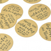 Personalised Wedding Stickers, Custom Favour Labels,Wedding Favour Stickers,Rustic Design Favour Labels,Kraft Stickers