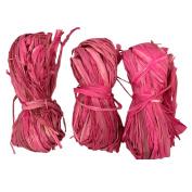 Natural Raffia 3 Bundle Pack Pink