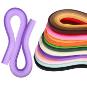 eBoot Quilling Paper Set 1080 Pieces Quilling Art Strips, 45 Colours, 5 mm Width and 54 cm Length