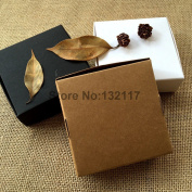 50 Pieces 9.5*9.5*3CM Brown Gift Wedding Package Box Kraft Paper Packing Box Handle Soap Candy Biscuits Cosmetic Packaging Pack Boxes