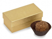 Nashville Wraps Rigid Truffle Candy Box 24 Count - Gold Embossed - Holds 2 Pieces