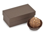 Nashville Wraps Rigid Truffle Candy Box 24 Count - Chocolate - Holds 2 Pieces