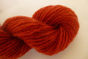 Deep Rust Red Orange Wool Blend Dk / Sports Weight Sock Yarn