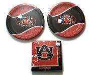 University of Auburn Tigers Party Bundle 23cm Plates (16) Lunch Napkins