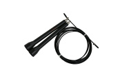 CFF Black Ultra Speed WOD Rope - Dual Bearing; Great for MMA & Cross Training