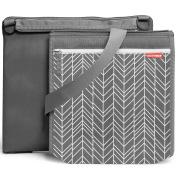 Skip Hop Central Park Outdoor Blanket & Cooler Bag, Grey Feather