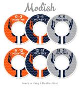 Modish Labels Baby Nursery Closet Dividers, Closet Organisers, Nursery Decor, Baby Boy, Deer, Antlers, Woodland