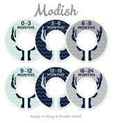 Modish Labels Baby Nursery Closet Dividers, Closet Organisers, Nursery Decor, Baby Boy, Deer, Antlers, Woodland