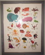 Hallmark Bob Kolar ABC Alphabet Baby Nursery Decor Picture Framed