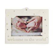 Oaktree Gifts Resin Cloud Pattern baby Photo Frame 6 x 4