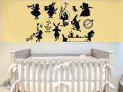 Wall Vinyl Sticker Decals Mural Room Design Decor Art Alice In Wonderland Cartoon Nursery Baby bo2411