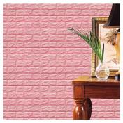 Kemilove PE Foam 3D Wallpaper DIY Wall Stickers Wall Decor Embossed Brick Stone