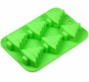 Efivs Arts 6 Christmas Tree Silicone Cake Baking Mould Cake Pan Handmade Soap Moulds Biscuit Chocolate Ice Cube Tray DIY Mould