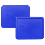 Pyrex 7212-PC Cobalt Blue 11 Cup Rectangle Plastic Lid - 2 Pack