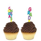 Graduation - Congrats Grad Cupcake Toppers Set of 12
