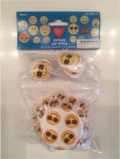Emoji birthday cupcake toppers and wrappers set of 24