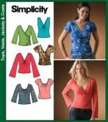 Simplicity Pattern 4076 Size K5 (8,10,12,14,16) Women's Knit Tops