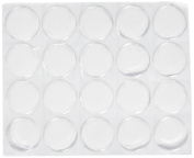 yueton Pack of 100 Clear 2.5cm Round Craft Bottle Caps Epoxy Self Adhesive Stickers for Hair Bows, Pendants,Scrapbooks