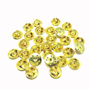ThreeBulls 30 Pcs Gold Comfort Fit Butterfly Clutch Metal Pin Backs Replacement