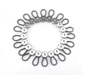 yueton 20pcs Metal Elastic Collar Extenders Button Extenders for Shirt Dress Trouser Coat Collars Pants