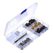 Outus Copper Snap Fasteners Press Studs Poppers No Sewing Clothing Snaps Button 39 Set with Fixing Tool for Fabric, Leather Craft