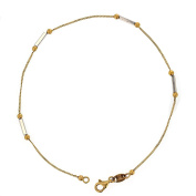 Anklet. 14KT White and Yellow Gold Anklet
