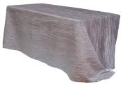 Your Chair Covers Rectangular Crinkle Taffeta Tablecloths, Dark Silver 230cm x 400cm