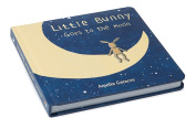 Jellycat Board Book, Little Bunny Goes to the Moon, 19cm x 19cm