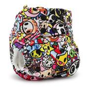 Kanga Care Rumparooz Cloth Pocket Nappy Snap, Tokijoy/Multi, One Size