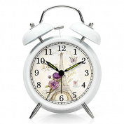 NLEADER Classic Bell alarm silence Alarm clock Twin Bell Metal Alarm Clock With Loud Alarm and Backlight, Luminous Dial, Night Light